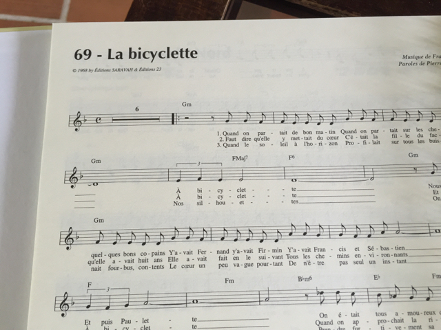 À Bicyclette – French Song