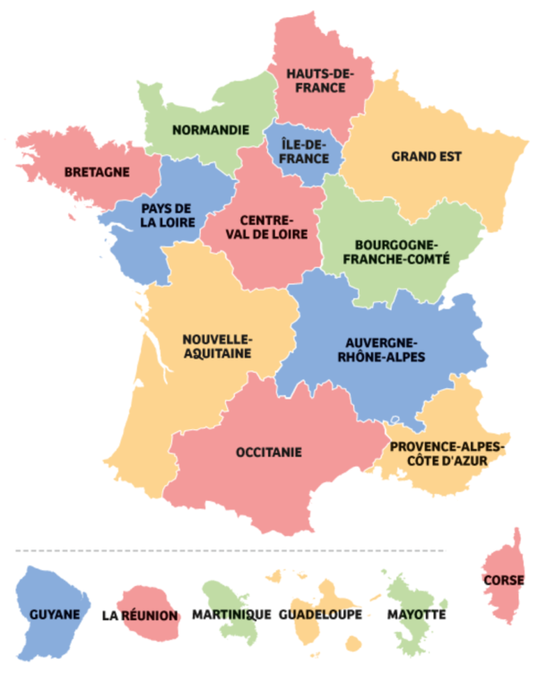 13 Regions In France
